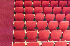 Red auditorium chairs Stock Photos