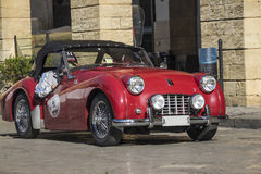 Red austin healey mk race Royalty Free Stock Photography
