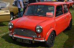 Red Austin Mini classic vintage car Stock Photo