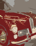 Red automobile Royalty Free Stock Images