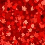 Red autumn background with leaves. EPS 8 Stock Image