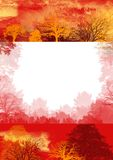 Red autumn background, trees Royalty Free Stock Photography