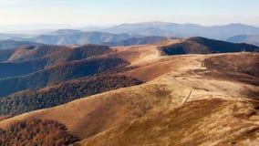 Red autumn in a Carpathian mountains. Borzhava ridge. National park of Ukraine. Royalty Free Stock Photos