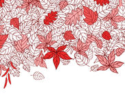 Red Autumn Leaves Background Royalty Free Stock Photo