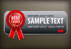 Red award banner on black Royalty Free Stock Photo