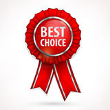 Red award label on white Royalty Free Stock Photography