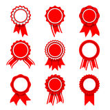 Red Award Medals Royalty Free Stock Photo