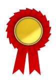 Red award over white background Stock Photography