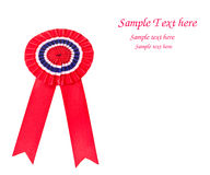 Red award ribbon. With space for your sample text Stock Photography