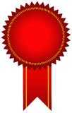 Red award ribbon Stock Image