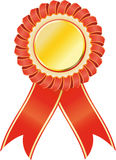 Red award seal rosette Royalty Free Stock Photos