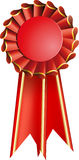Red award seal rosette Stock Images