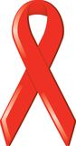 Red Awareness Ribbon Royalty Free Stock Photography