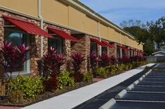 Red Awnings Stock Image