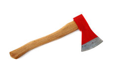 Red axe isolated Stock Images