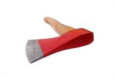 Red axe isolated Royalty Free Stock Photo