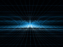 Red azul de la onda de choque Imágenes de archivo libres de regalías