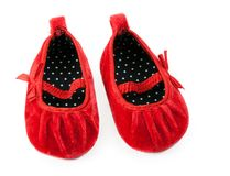 Red baby booties Stock Photo