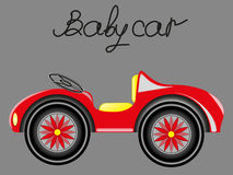 Red baby car Royalty Free Stock Images