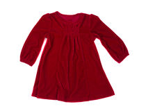 Red baby dress Royalty Free Stock Photo