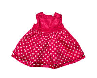 Red baby girl dress. Stock Photos
