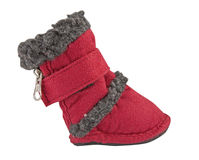 Red baby shoe Royalty Free Stock Photos