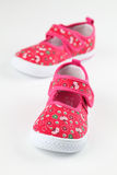 Red baby shoes Royalty Free Stock Photos
