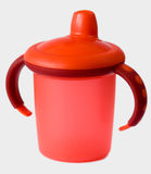 Red baby sip cup Royalty Free Stock Photography