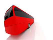 Red back bus. A red back side bus made in 3d Stock Photography