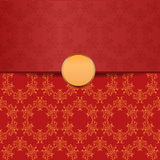 Red backdrop with ornament Stock Images