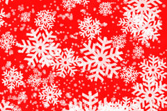 Red Backgroun With Snowflakes Royalty Free Stock Photography