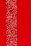 Red background. With flowers motif Royalty Free Stock Photo
