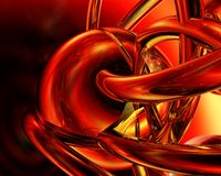 Red background. Dark red metallic shapes-3d rendered background Stock Photos