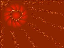 Red background. Dark Red background with heart Royalty Free Stock Image