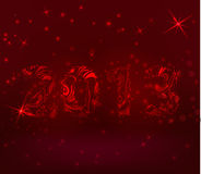Red background with abstract 2013 Royalty Free Stock Image