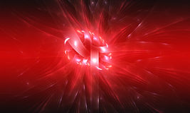 Red background. Abstract design. Red and white. Royalty Free Stock Images