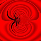 A red background. A red abstract ripples background Royalty Free Stock Photography