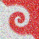 A red background. A red abstract swirl background stock illustration