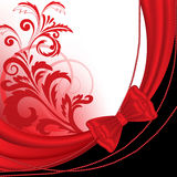 Red background with beads Royalty Free Stock Photos