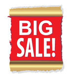 Red background. Big sale. Stock Photography