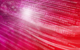 Red background binary code stock images