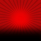 Red Background With Black Burst. A red background with black burst and black gradient at the bottom to put custom content stock illustration