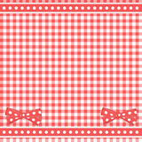 Red background with bows Royalty Free Stock Photo