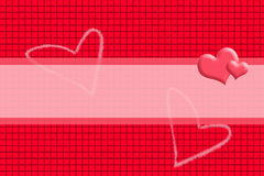 Red background in a box style concatenating and Heart Picture. Stock Images
