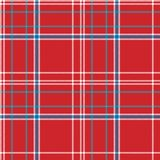 Red background check fabric texture seamless pattern. Flat design. Vector illustration Stock Photography