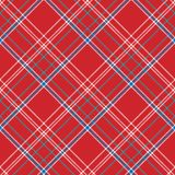 Red background check fabric texture seamless pattern. Flat design. Vector illustration Royalty Free Stock Photos