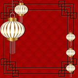 Chinese new year. Red background for 2018 Chinese new year with Chinese lantern. Vector illustration Royalty Free Illustration