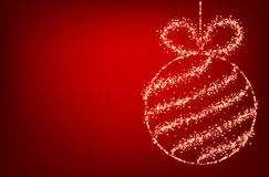 Red background with Christmas ball. Stock Photos