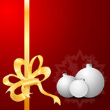 Red Background with Christmas balls Royalty Free Stock Photography