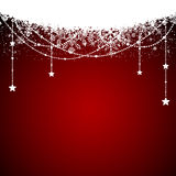Red background with Christmas decoration Stock Images